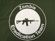 "F T- Shirt ""Zombie Eradication Team"""