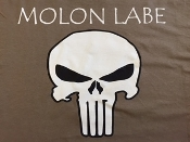 "C T Shirt ""Molon Labe Punisher Skull"""